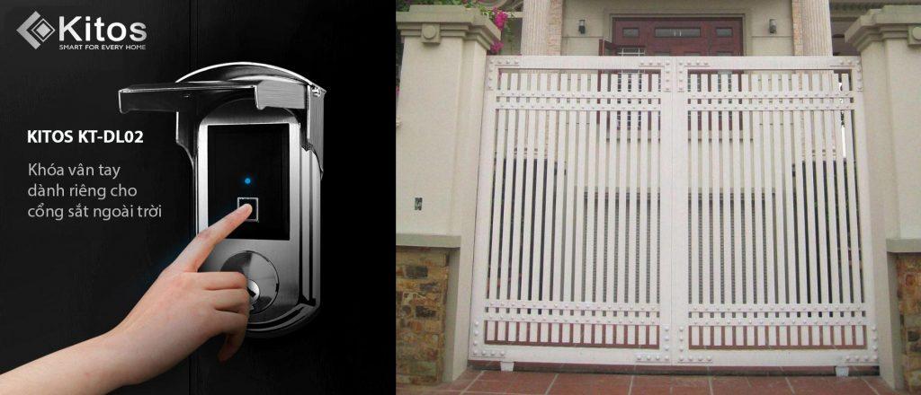 Khóa vân tay cửa cổng Kitos KT-DL02